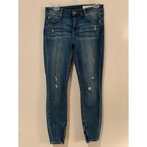 Pistola High Rise Distressed Zip Ankle Jeans